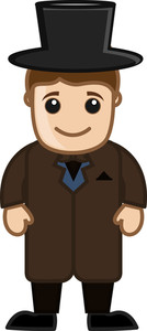 Groom - Vector Character Cartoon Illustration