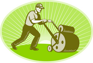 Groundsman Groundskeeper Lawn Roller