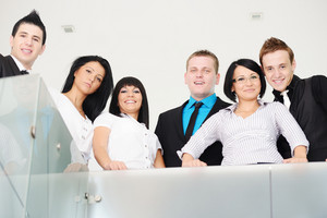Group of business people at work place