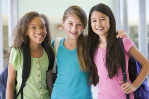 Group of female elementary school friends
