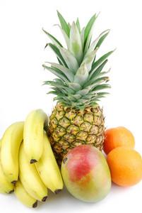 Group Of Fresh Fruits On White