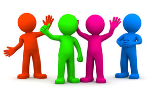 Group Of Fun Colorful 3d Characters
