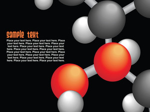 Group Of Molecule Isolated On Black
