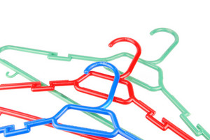 Group Of Plastic Cloth Hangers