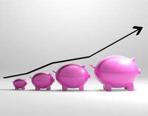 Growing Piggy Shows Increased Savings