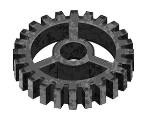 Grunge 3d Gear Wheel