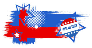 Grunge 4th Of July Vector Theme Design
