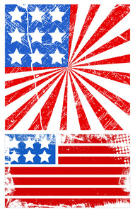 Grunge American Flag Patriotic Usa Theme Vector