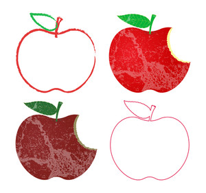 Grunge And Vintage Apples Designs