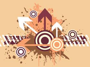 Grunge Arrow Background Series