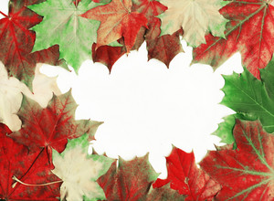 Grunge Autumn Frame With Space For Text