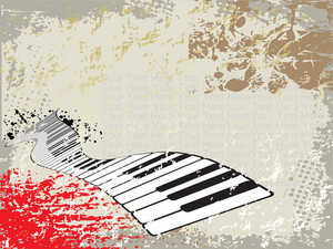 Grunge Background Of Piano
