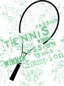 Grunge Background Of Tennis Rackets