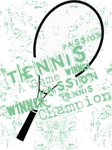 Grunge Background Of Tennis Rackets