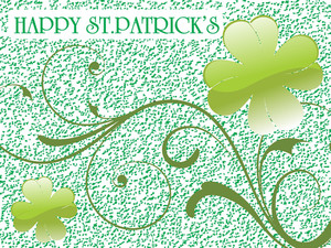 Grunge Background With Curve Clover 17 March
