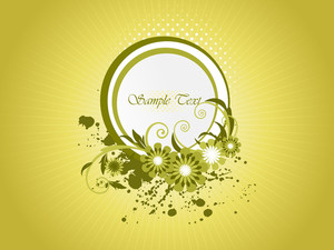 Grunge Background With Floral Frame