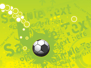Grunge Background With Isolated Soccer