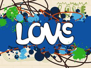 Grunge Background With Love