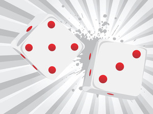 Grunge Background With Vector Dice