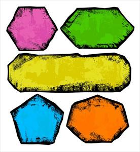 Grunge Banners Vector Illustration Background
