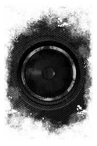 Grunge Black Speaker