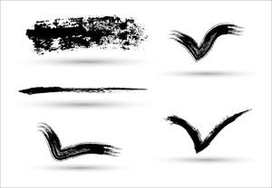 Grunge Brush Strokes Vector Elements