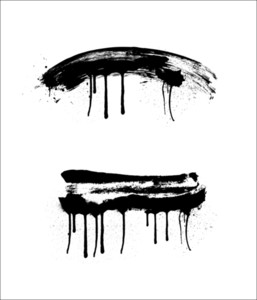 Grunge Brush Strokes Vectors