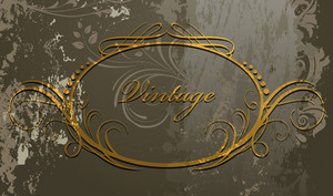 Grunge Calligraphic Frame Vector Illustration