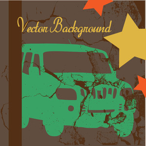 Grunge Car Vector Background