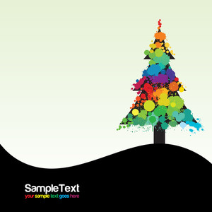 Grunge Christmas Tree Design