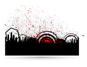Grunge Circles Skyline