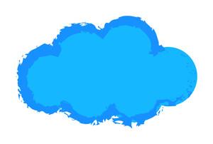Grunge Cloud Vector