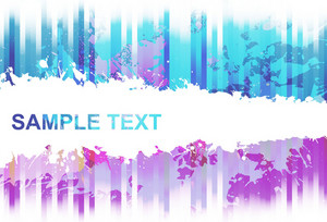 Grunge Colorful Background Vector Illustration