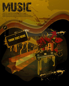 Grunge Concert Poster Vector Illustration