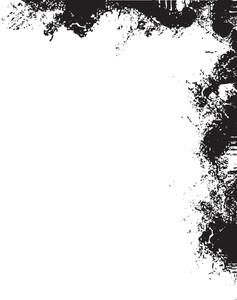 Grunge-corner Vector Element