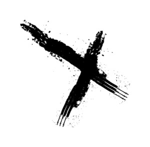 Grunge Cross Sign