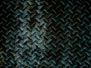 Grunge Diamond Plates Background