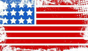 Grunge Dirty Old Flag Us 4th Of July Independence Day Vector Design