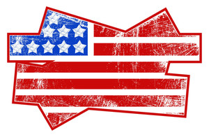 Grunge Flag Usa Independence Day Vector Theme Design