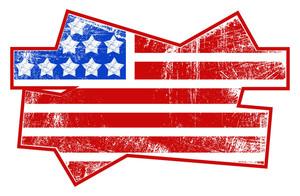 Grunge Flag Usa Independence Day Vector Theme Design