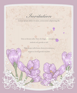 Grunge Floral Background Vector Illustration