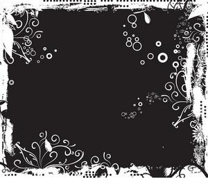 Grunge Floral Background Winter Style