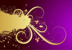 Grunge Floral Banner Design