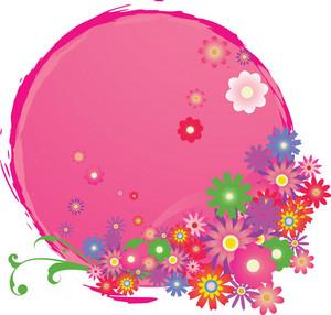 Grunge-floral-frame