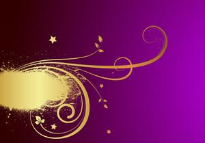 Grunge Floral Sparkles Design