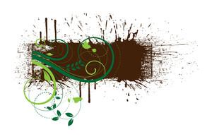 Grunge Floral Splash Banner