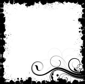 Grunge Flourish Frame