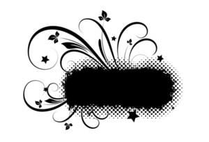 Grunge Flourish Halftone Banner