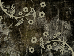 Grunge Flourish Pattern Background