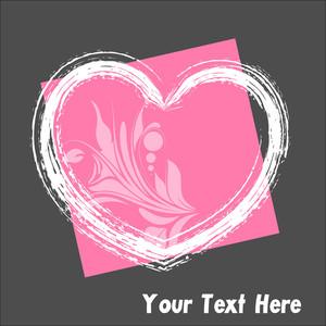 Grunge Flourish Valentine Heart Frame